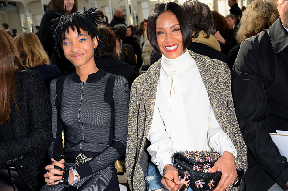 PARIS, FRANCE - MARCH 08: Jada Pinkett Smith and her daughter Willow Smith attend the Chanel show as part of the Paris Fashion Week Womenswear Fall/Winter 2016/2017 on March 8, 2016 in Paris, France. (Photo by Dominique Charriau/WireImage)